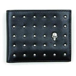 Zeyner Men's 'Stud Max' Leather Bi-Fold Deluxe Wallet