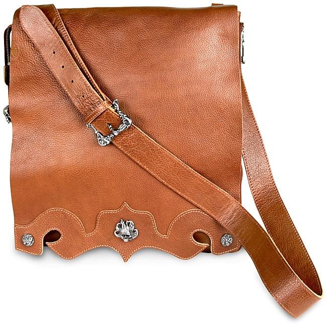 Zeyner Vachetta Italian Leather Messenger Bag