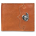 Zeyner Cognac Italian Leather Bifold Wallet with Handmade Hardware