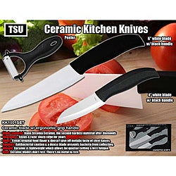Ceramic Kitchen Knive with Peeler Cutlery Set