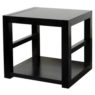 Richmond Espresso End Table with 1 Shelf