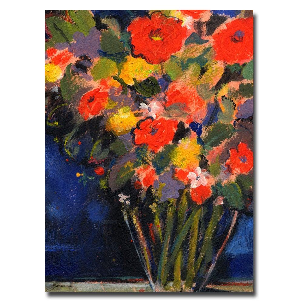 Sheila Golden 'Blue Wall' Canvas Art