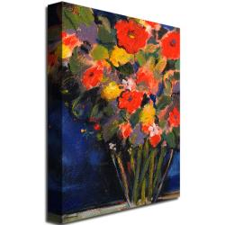 Sheila Golden 'Blue Wall' Canvas Art