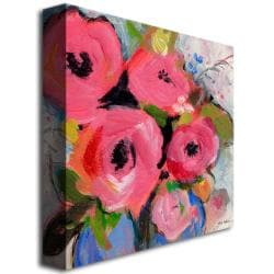 Sheila Golden 'Bouquet in Pink' Canvas Art