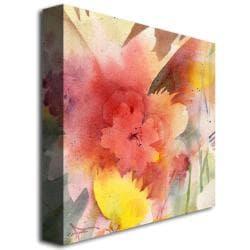 Sheila Golden 'Hibiscus Shadow' Contemporary Canvas Art