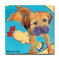 Pat Saunders-White 'Favorite Toy' Small Canvas Art
