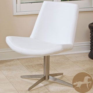Christopher Knight Home Modern White Leather Chair