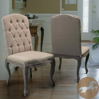 Christopher Knight Home Beige Tufted Fabric Weathered