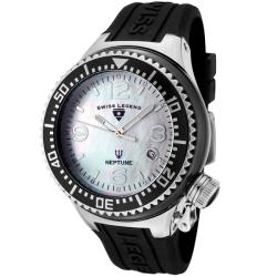 Swiss Legend Unisex 'Neptune Ceramic' Black Silicon Watch