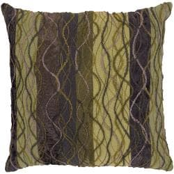 Baden Green/ Mauve Stripe Decorative Pillow