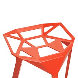 Kaysa Red Aluminum Modern Bar Stools (Set of 2)
