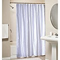 White Ruffled 100-percent Cotton Shower Curtain