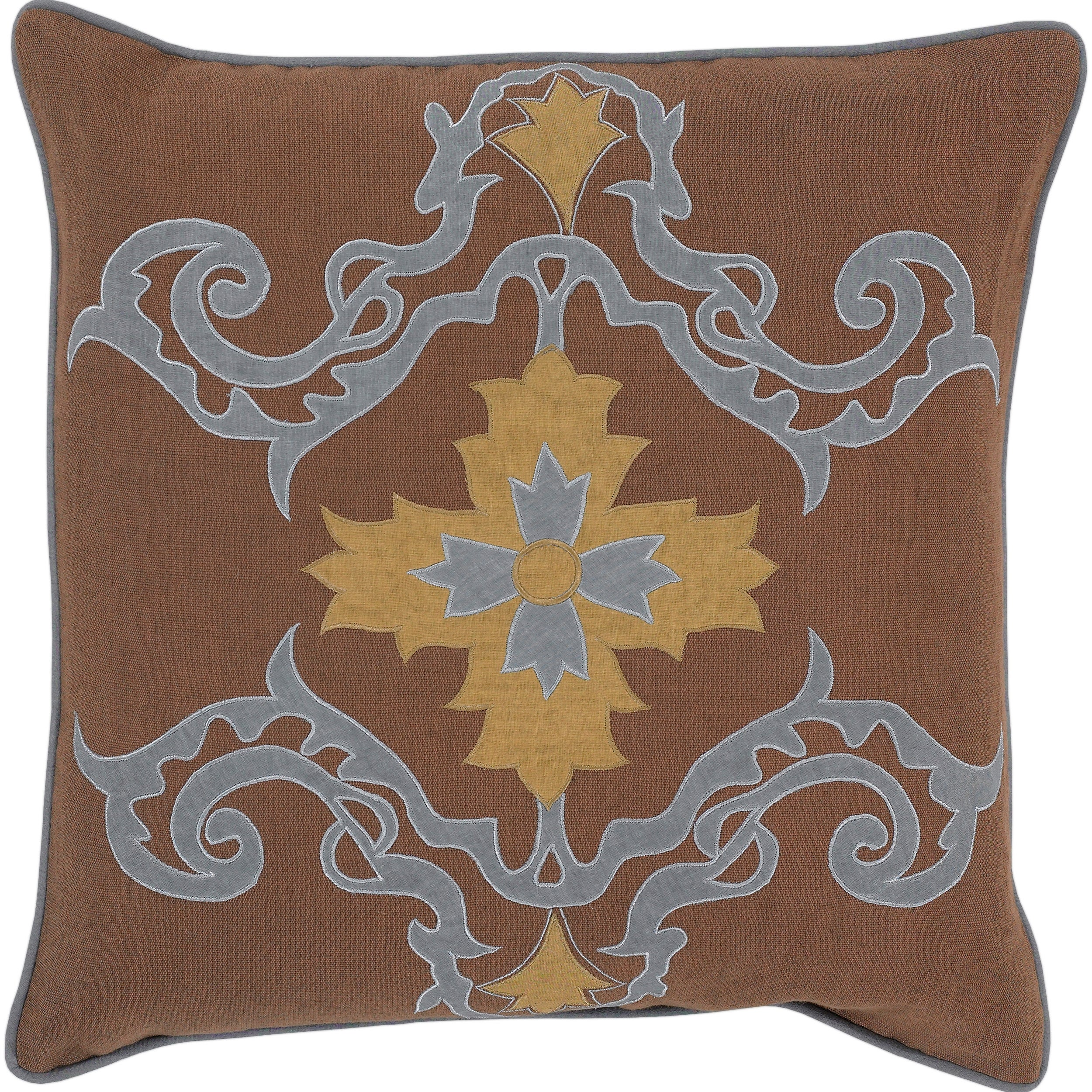 Namur Brown Geometric Decorative Pillow