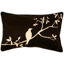 Nottingham Black/ Ivory Bird Decorative Pillow