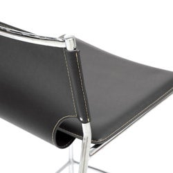 Montclare Black Leather Modern Bar Stool (Set of 2)