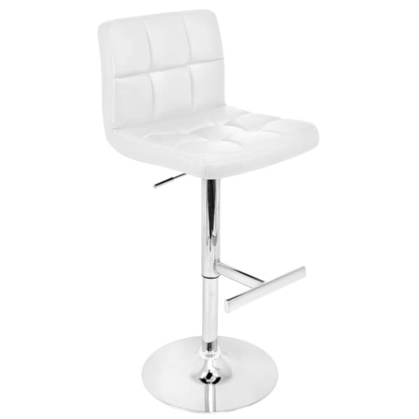 Lager White Modern Bar Stool