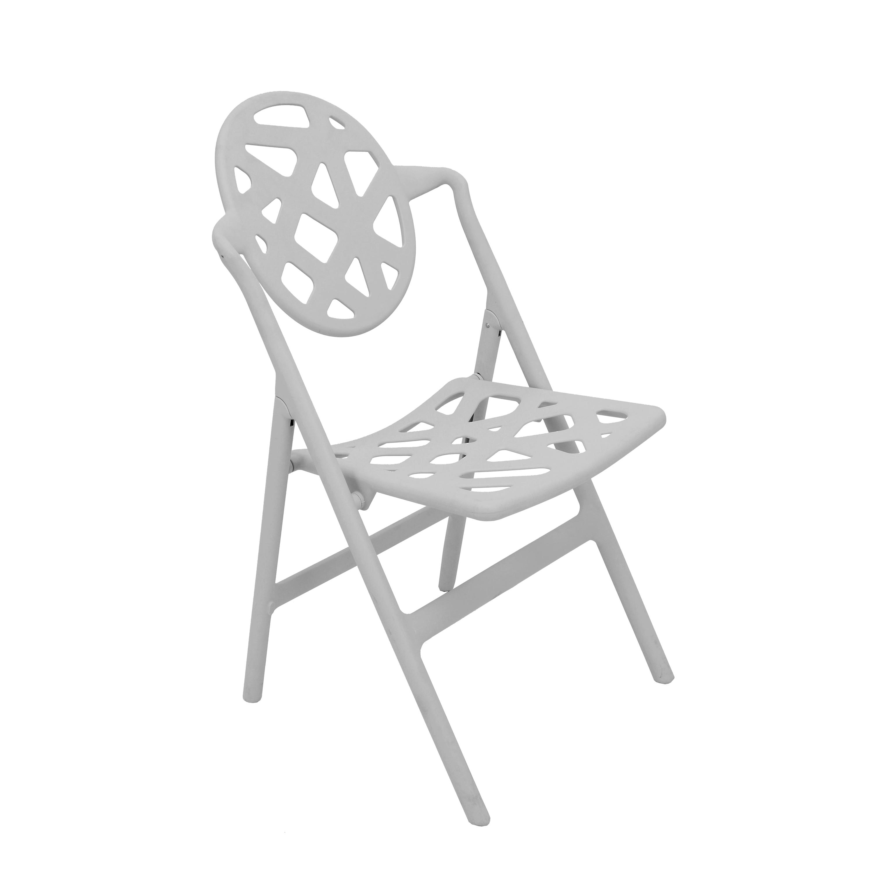 Typhoon Grey Folding Chairs (Set of 2)