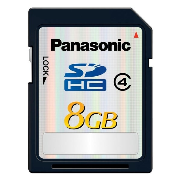Panasonic Silver RP-SDL08GU1K 8 GB Secure Digital High Capacity (SDHC