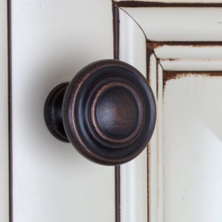 GlideRite 1.25-inch Oil Rubbed Bronze Classic 3-Ring Round Knobs (Pack of 25)