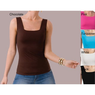Illusion Women's Microfiber Square-neck Tank
