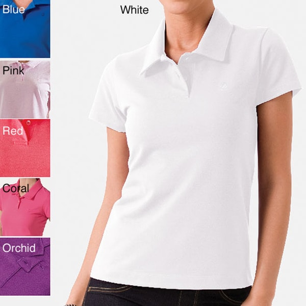 Illusion Women's Cotton-blend Short-sleeve Polo Shirt