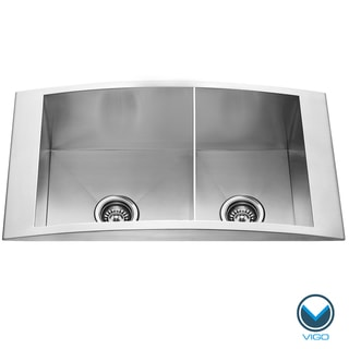 VIGO 36-inch Topmount Stainless Steel 12 Gauge Double Bowl Kitchen Sink