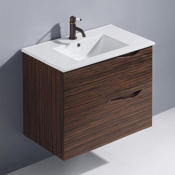 Vigo 32-inch Espresso Mayan Single Wall-Mounted Bathroom Vanity