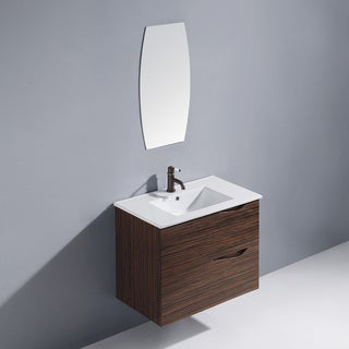 Vigo 32-inch Espresso Mayan Single Bathroom Vanity with Mirror