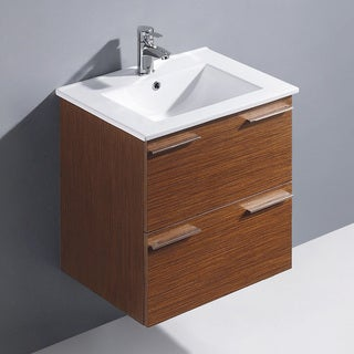 Vigo 24-inch Opehelia Single Wall-Mounted Bathroom Vanity