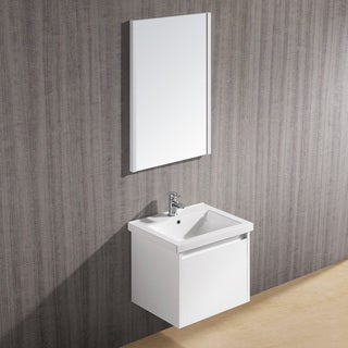 Vigo 23-inch Bianca Single Bathroom Vanity with Mirror