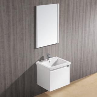 Vigo 23-inch Bianca Single Bathroom Vanity with Mirror