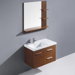 Vigo 31-inch Moderna Trio Single Bathroom Vanity with Mirror