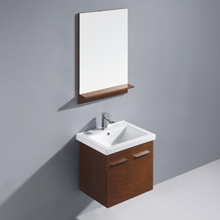 Vigo 24-inch Amber Single Bathroom Vanity with Mirror