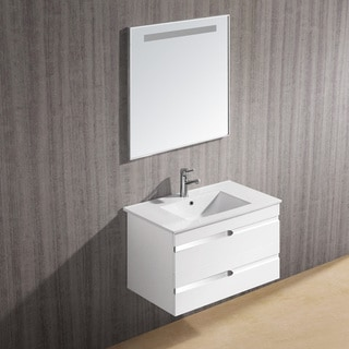 Vigo 32-inch Ethereal-Petit Single Bathroom Vanity with Mirror
