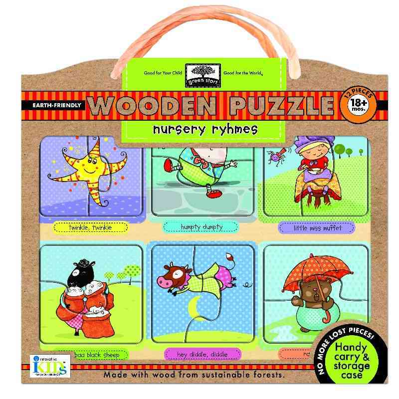Nursery Rhymes: Earth Friendly Puzzles With Handy Carry & Storage Case (General merchandise)