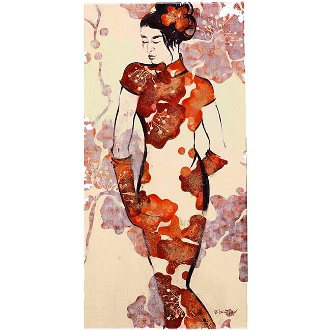 Fabrice de Villeneuve's 'Geisha Series 2' Giclee Canvas Art Print
