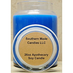 Southern Made Candles Blue 26-oz Apothecary Soy Candle