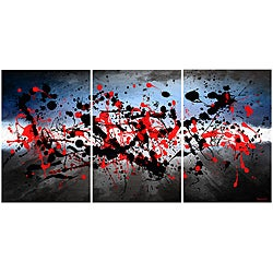 Maxwell Dickson 'Beautiful Mind' Abstract Canvas Wall Art (Set of 3)