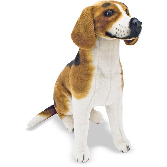 Melissa amp doug plush beagle stuffed animal 14048830 overstock com