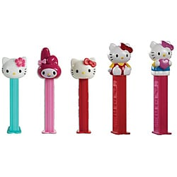 Pez 'Hello Kitty' Dispenser and Candy Rolls