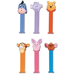 Pez 'Winnie the Pooh' Candy Dispenser and Candy Rolls