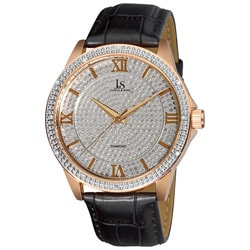 Joshua & Son's Men's Diamond Japanese Quartz Strap Watch