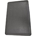 Bubble-Top Black Rubber Anti-Fatigue Mat