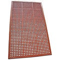 Dura-Chef Jr. Red Non-Slip Rubber Kitchen Mat