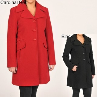 Larry Levine Women's Classic Wool Coat