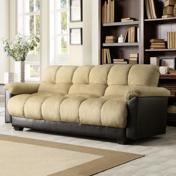 Bento Klic Klac Peat Microfiber Futon Sofa Bed