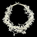 White 'Luzy Winter' Bead Necklace (Guatemala)