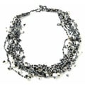 Luzy Salt and Pepper Crystal Necklace (Guatemala)