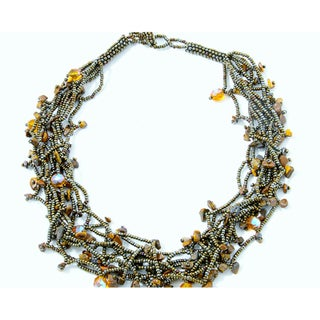Luzy 'Mocha' Tiger's Eye Necklace (Guatemala)