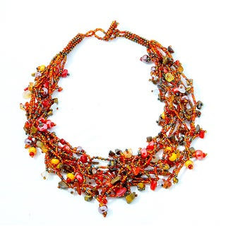 Luzy 'Autumn' Bead Necklace (Guatemala)